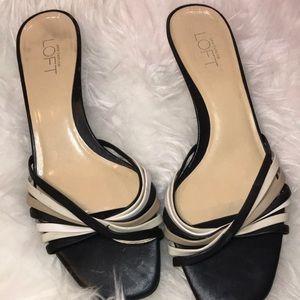 Square toed kitten heels by Ann Taylor